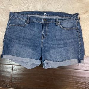 Old Navy Jean Shorts Cuffed Women's Plus Size 16